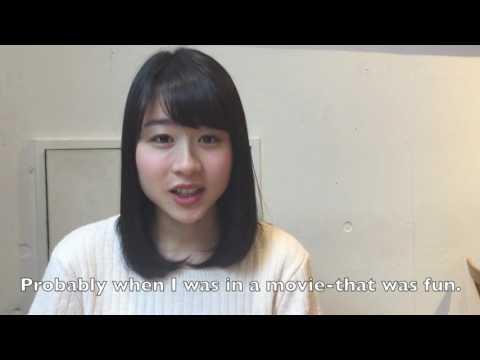 Ayako Fukuda 151026  - Interview with Risa Ikeda- Aspiring Actress