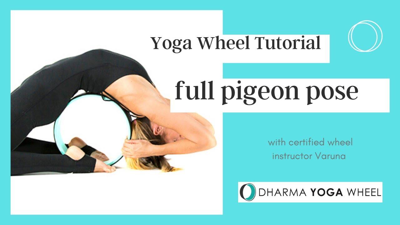 Pigeon Pose Yoga Wheel