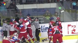 хоккей жесткая драка в прямом эфире epic fail