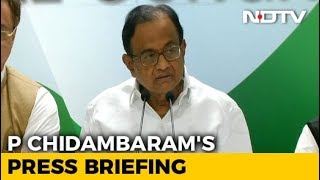 Karnataka Governor Should Not Walk A Path That Is Illegal: Chidambaram