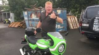 Z900RS 2018 Cafe Acropovic Exhaust Headers and Burnout