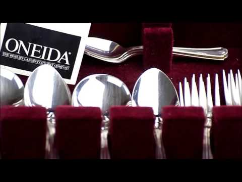 ONEIDA COMMUNITY 48 PIECE SILVER PLATED CUTLERY SET | in Quality Display Case | Used in VGC