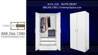 Alta Wardrobe Cabinet - 3 Interior Drawers | Item #: 1345
