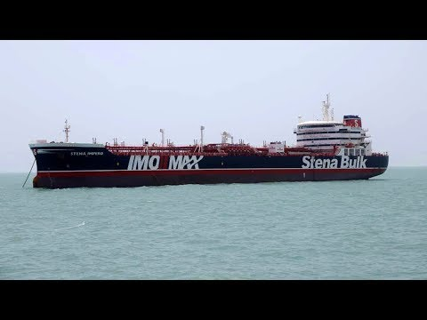 Iran releases pictures of captured British oil tanker
