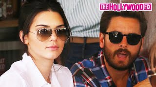 Kendall Jenner & Scott Disick Enjoy Lunch Outside At Il Pastaio W/ Mohamed Hadid