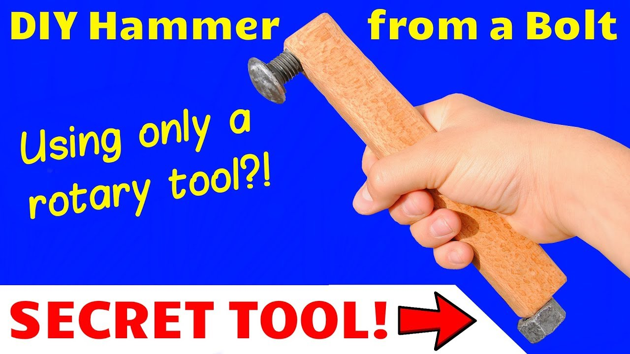 How to Make a Ball-Peen Hammer from an Old Bolt - with a Secret Twist! (no  pun intended)
