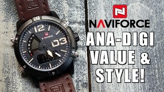 Rugged Style! NaviForce Dual Movt Ana-Digi Watch Review (NF9095M) c/o GearBest - Perth WAtch #133