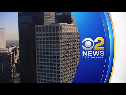KCBS-TV - Emergency Alert System Test, CBS 2 News at 11 AM open (2017)