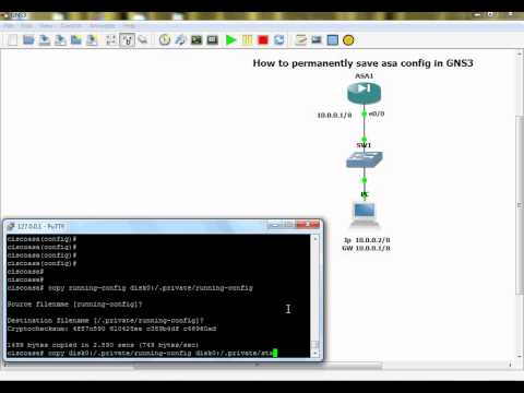 Permanently save asa config in GNS3 file