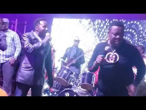 Mr Ibu Tries singing a Luo song at a peace Concert at Nairobi