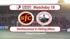 Stenhousemuir Vs Stirling Albion Highlights 28/12/19
