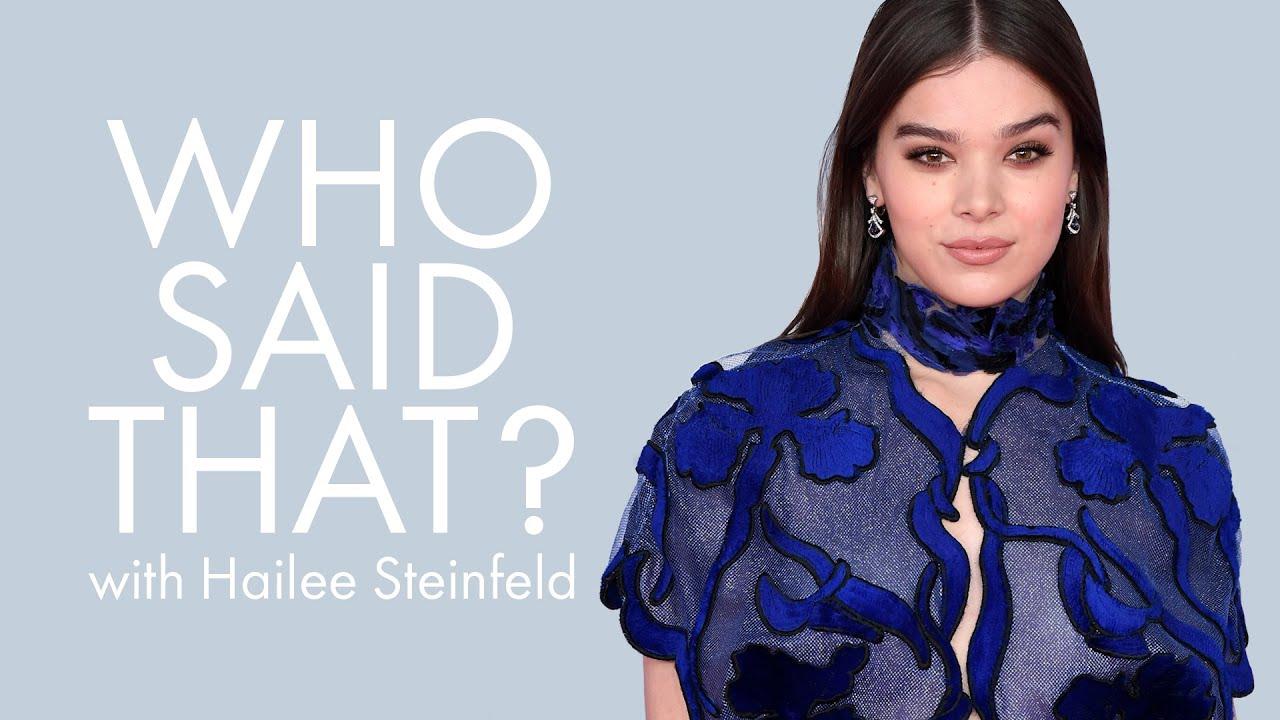 Hailee Steinfeld Guesses Lines From Kristen Wiig, Matt Damon & Rebel Wilson   Who Said That