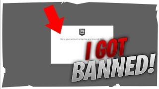 I GOT BANNED ON FORTNITE ( Sorry, your account is inactive and may not login ) meaning