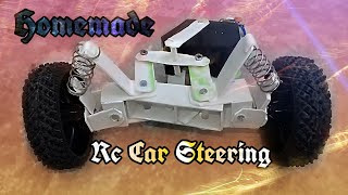 How To Make Steering of Rc Car At Home|With suspension|