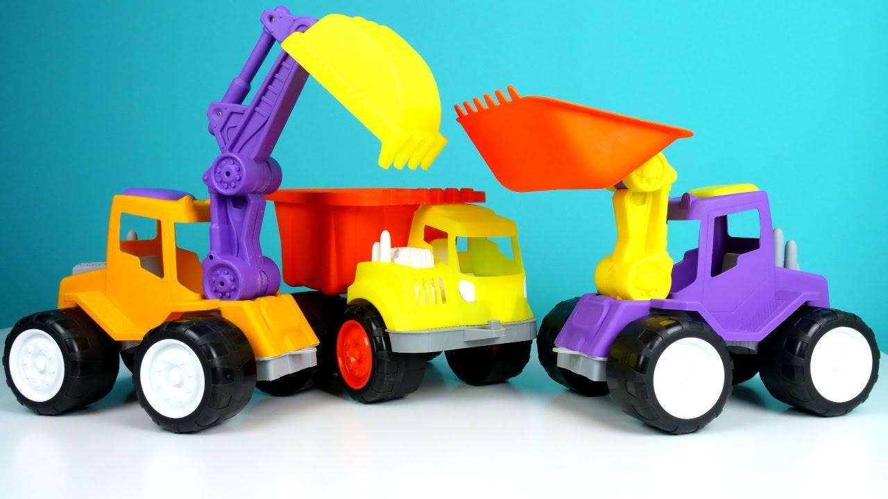 Автошкола для малышей! Желтый Экскаватор имашинки науроке. Мультики для самых маленьких