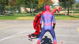 Spiderman vs Deadpool Basketball    SuperHero Basketball