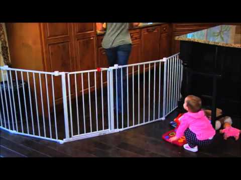 wooden pressure fit stair gate