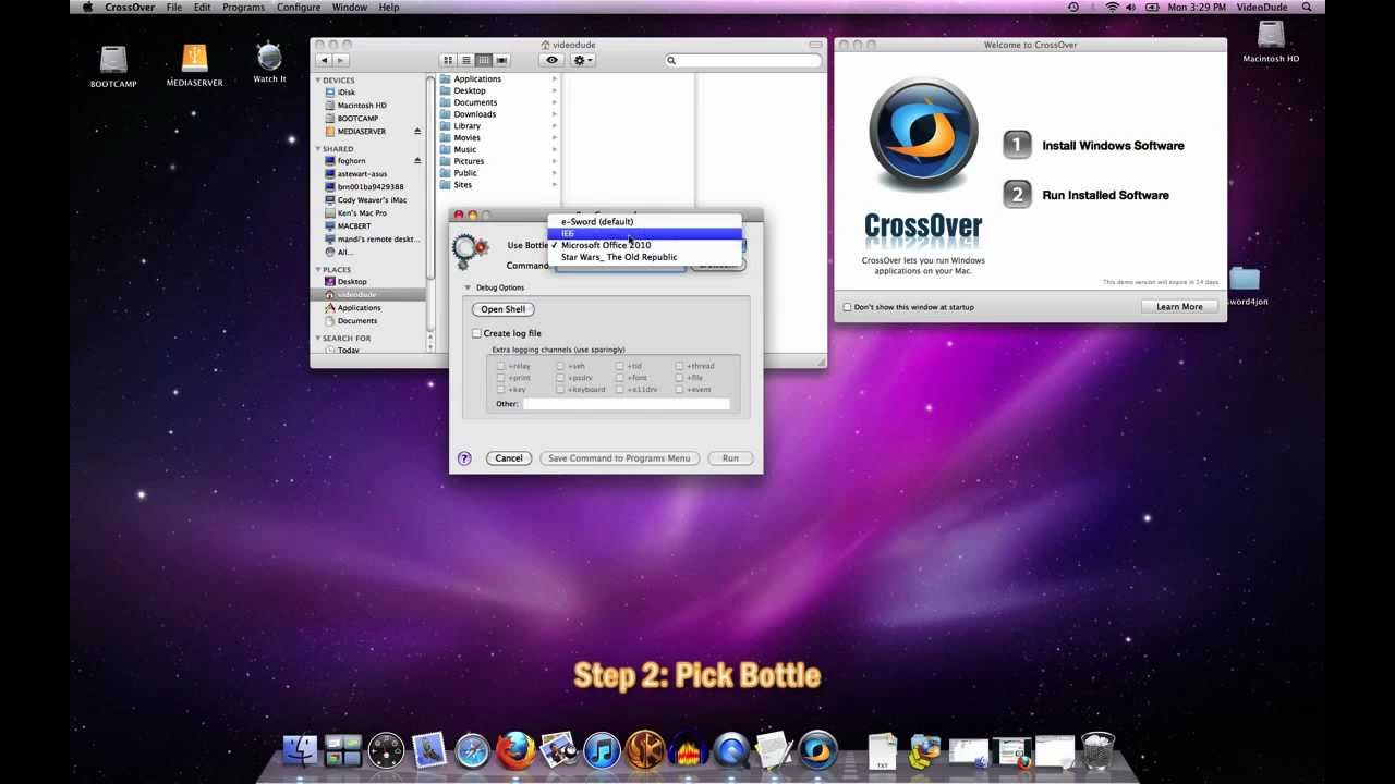How To Use the Run Command in CrossOver Mac | Online Video