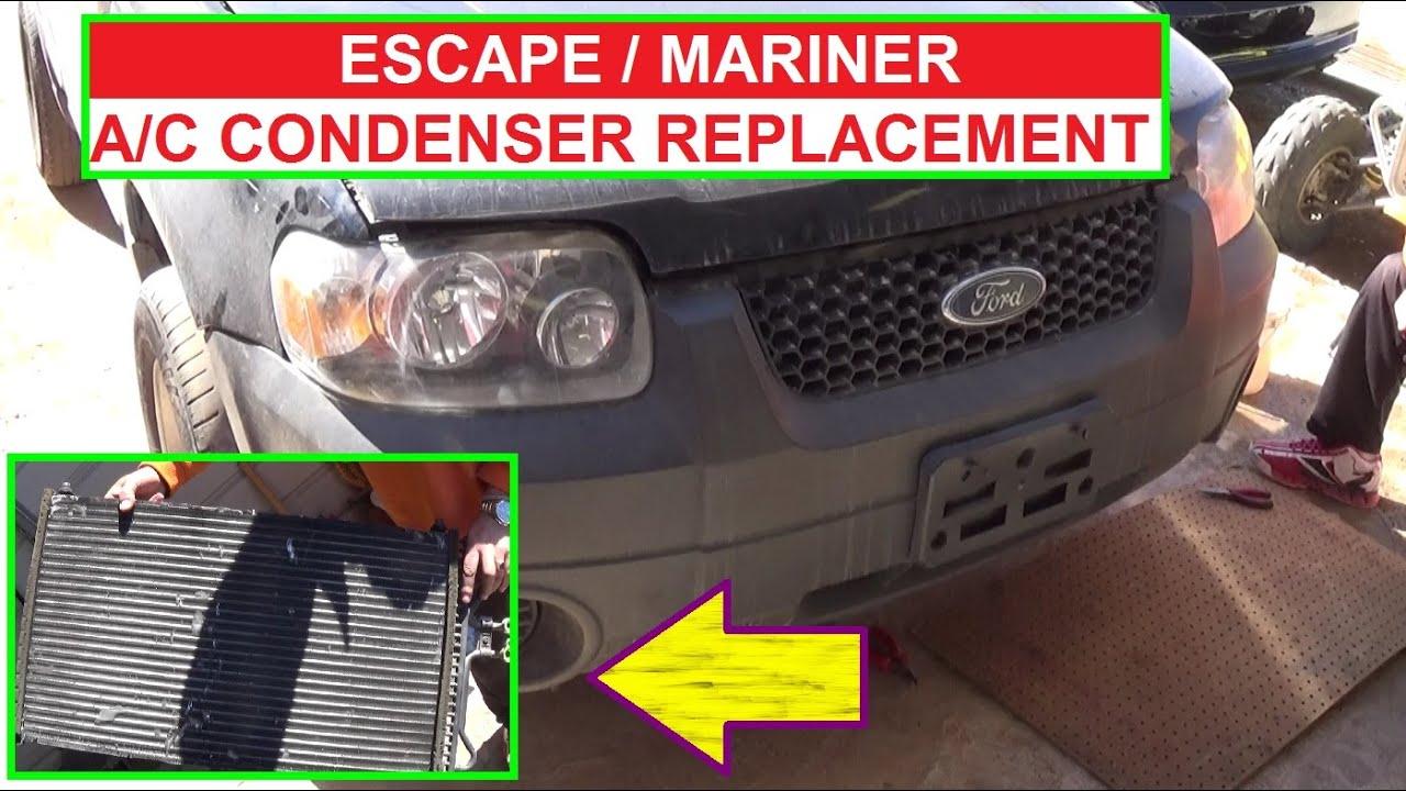 2005 Ford Escape Coil Wiring Diagram 2000 Chevy Silverado Trailer Color Code A C Condenser Removal And Replacement Mercury