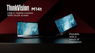 Lenovo ThinkVision M14t Mobile Monitor – Brings a Touch of Inspiration to Flexible Working