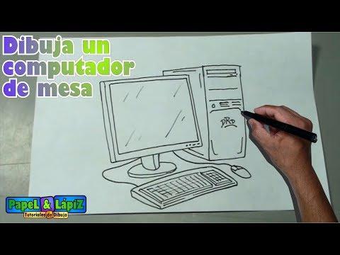 Cmo dibujar fcil un computador de mesa  Desktop computer