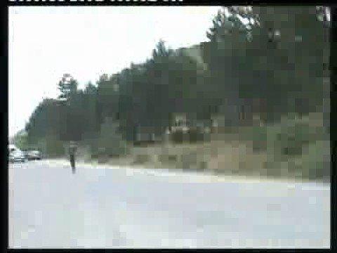 Ossetian separatist shooting at civilian