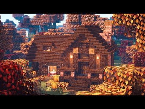 Minecraft | How to Build an Autumn Wooden House