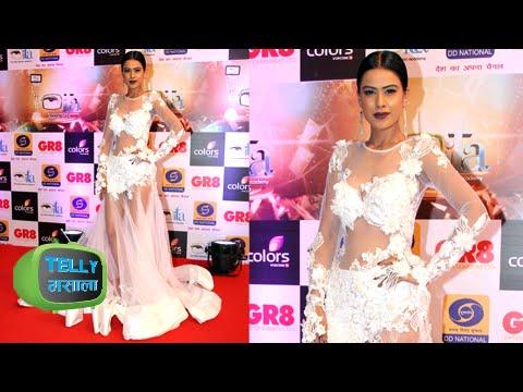 GR8 ITA Awards 2015 | Nia Sharma aka Roshni of Jamai Raja In Stunning White Gown