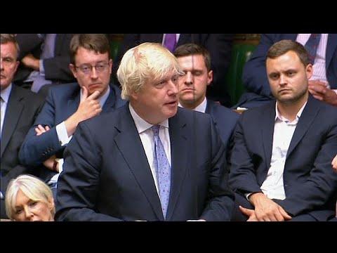 Boris Johnson fez o discurso da demissão no Parlamento
