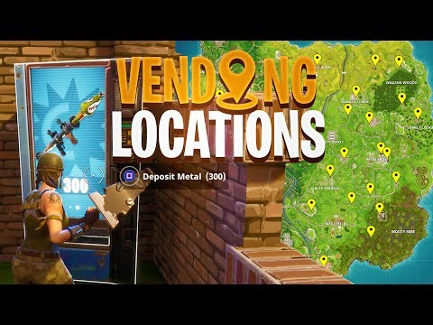 ALL VENDING MACHINE LOCATIONS in Fortnite: Battle Royale