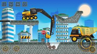 Construction City 2 - Truck,Crane - The Forest Walkthrough  |Android Gameplay 2018| Droidnation