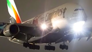10 LATE NIGHT LANDINGS Filmed with the SONY A7s | Melbourne Airport Plane Spotting