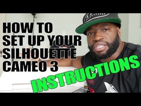 How To Set Up Your Silhouette Cameo 3 Video 1 Of 3 Youtube