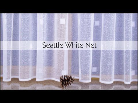 Seattle White Net Curtains - Woodyatt Curtains