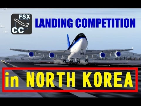FSX Multiplayer Landing Competition in NORTH KOREA (Top 10)