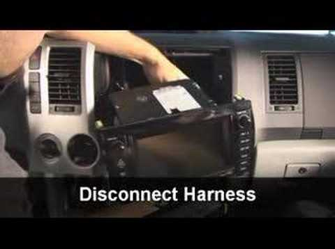 hqdefault stereo replacement installation guide for toyota tundra youtube 2005 Tundra Radio Wiring Diagram at mifinder.co