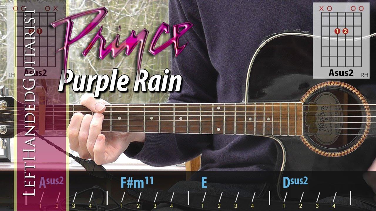 Prince Purple Rain Simple Acoustic Guitar Lesson Youtube