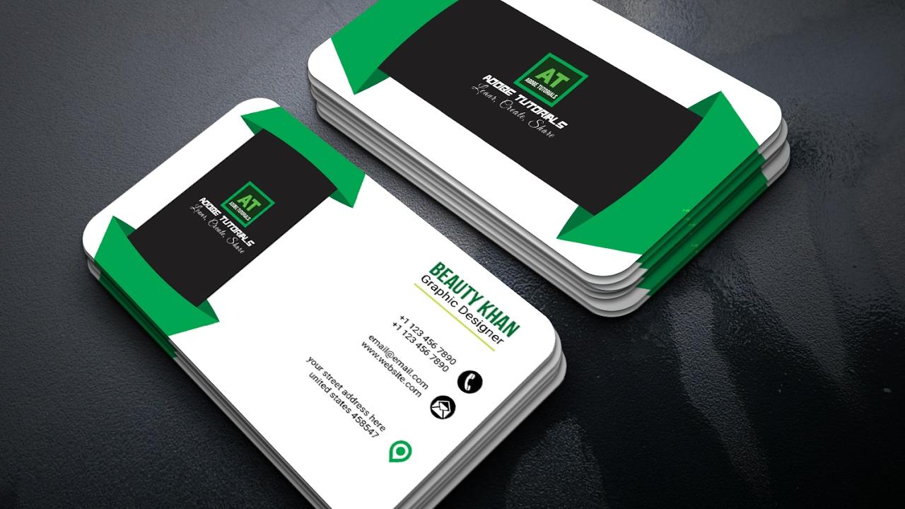 Adobe Illustrator Tutorial : Latest Business Cards Design - YouTube
