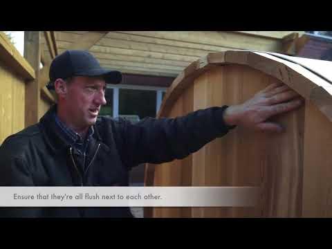 Dundalk LeisureCraft Clear Red Cedar Barrel Sauna Assembly Instructions