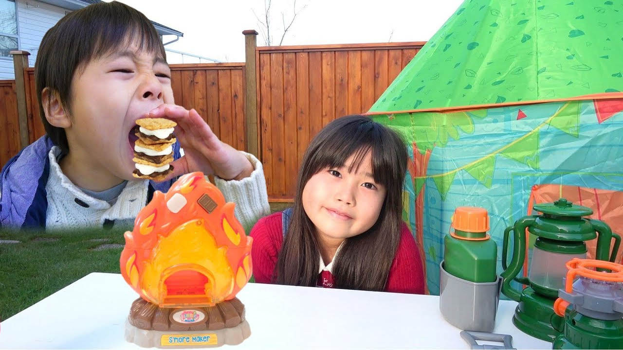 キャンプごっこ お菓子作りおもちゃ スモア 料理 こうくんねみちゃん