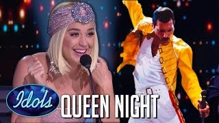 Gambar cover TOP 8 Auditions on QUEEN NIGHT on American Idol 2019 | Idols Global