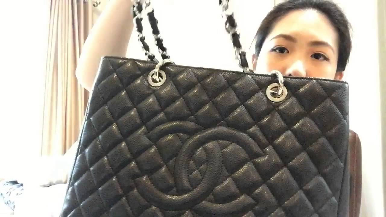 7a8ac2f63690da Review Chanel shopping tote GST black caviar - รีวิวกระเป๋า Chanel shopping  tote GST black caviar - YouTube