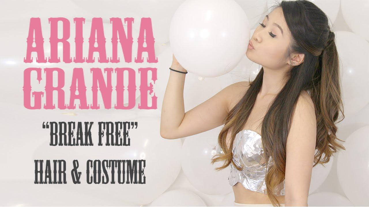 diy ariana grande break free music video costume hair halloween eva chung youtube - Free Halloween Costume