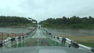 Пантонный мост через Суру  Шумерля Чувашия