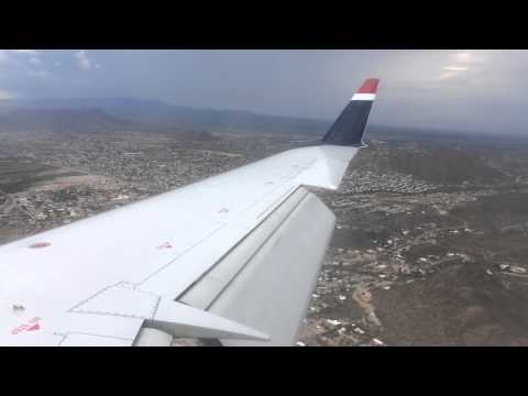 US Airways Express (Skywest) Bombardier CRJ-200 Landing in TUS