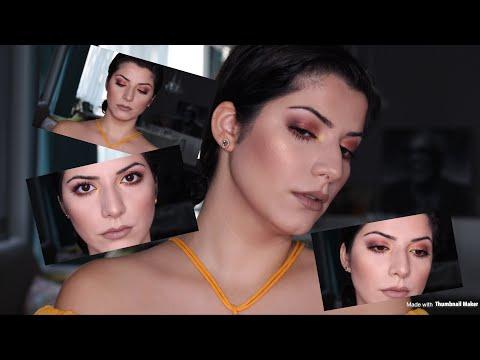 لوك برونز و ذهبي / Bronze golden goddess makeup tutorial