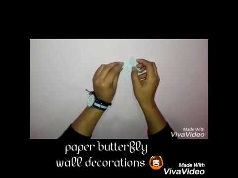 DIY : PAPER BUTTERFLY WALL DECORATION