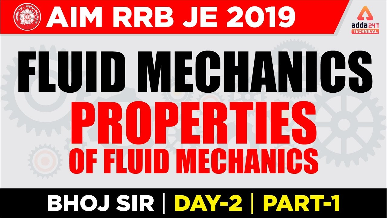 Adda247 Technical | RRB JE | Fluid mechanics | Mechanical