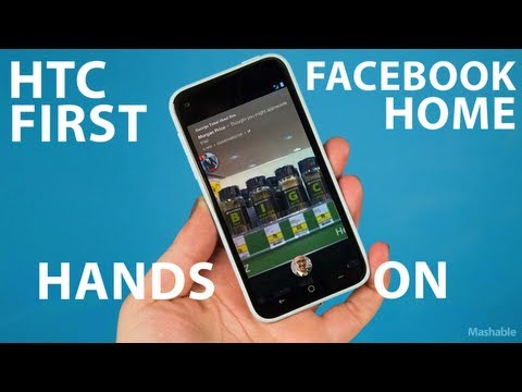 Facebook Home on HTC First Review | Mashable