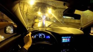 Lada Xray - болтовня в ночном движении